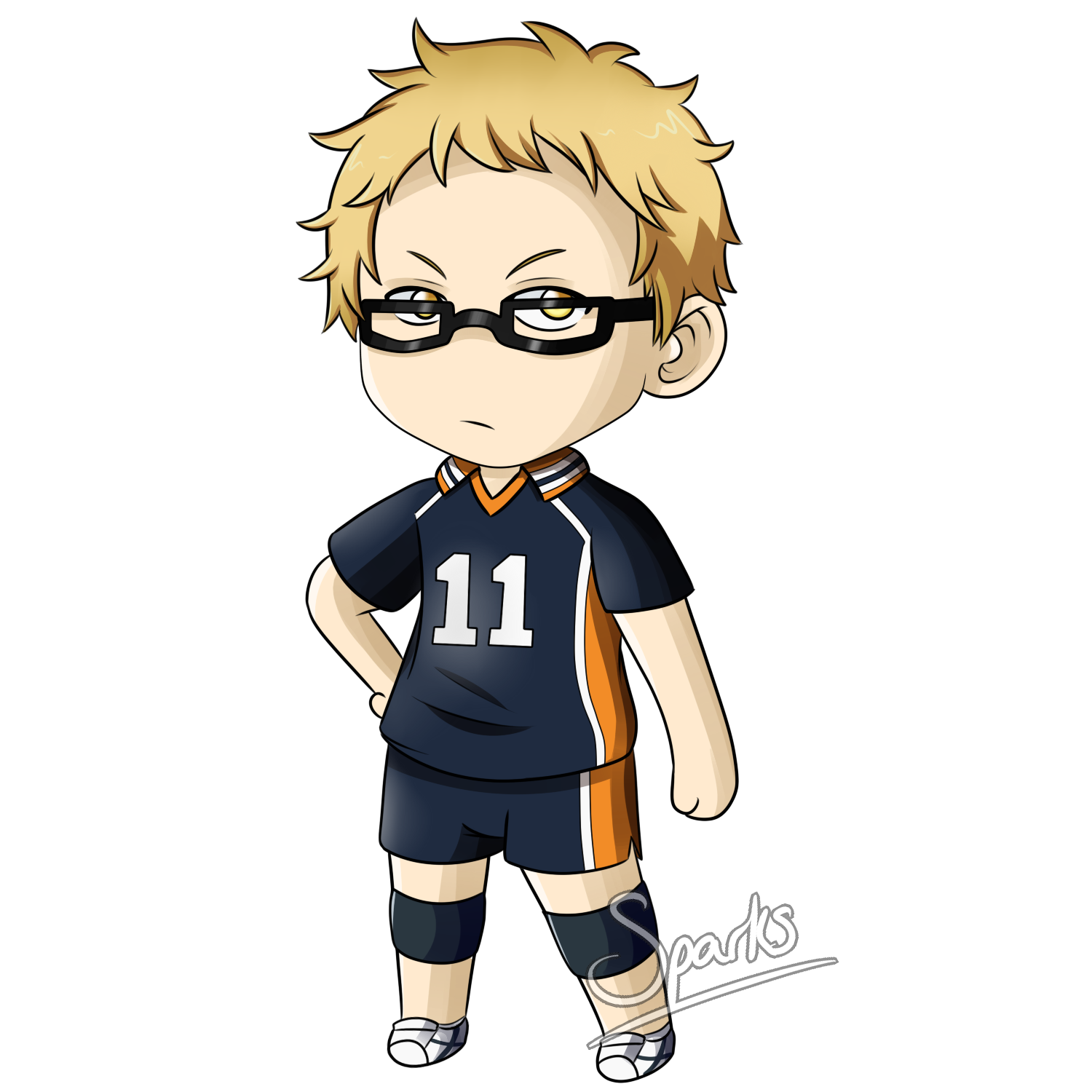 Tsukishima Kei Chibi by SparksReactor on DeviantArt.