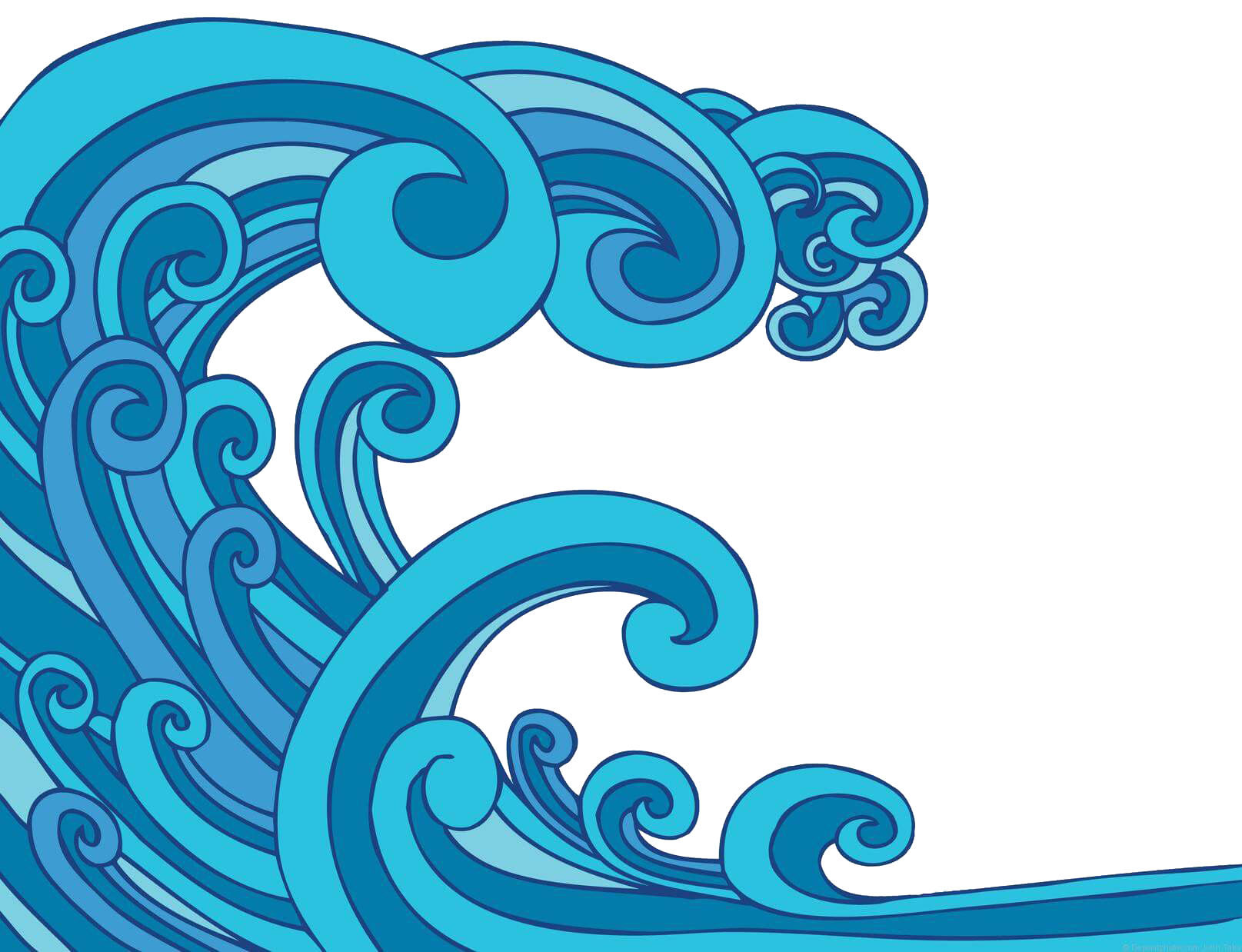 Wave Vector Royalty Free Stock Tsunami Tidal Clip Art.