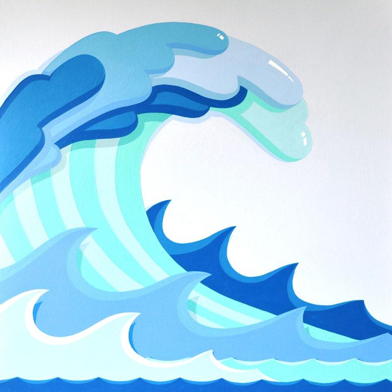 Tsunami wave clipart.