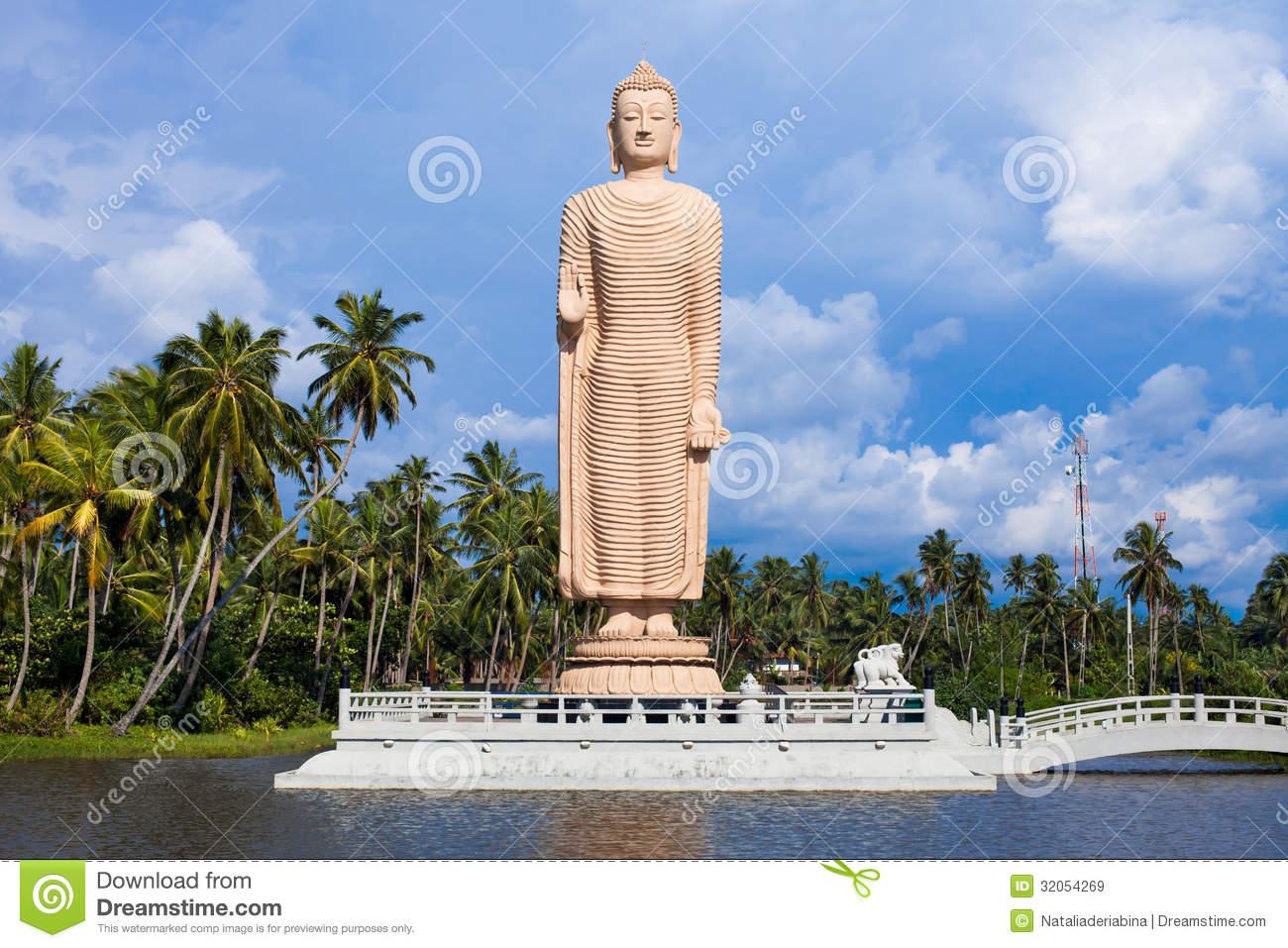 Peraliya Buddha Statue, Tsunami Memorial, Sri Lanka Royalty Free.