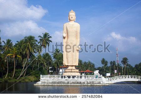 Peraliya Buddha Statue, The Tsunami Memorial In Hikkaduwa, Sri.