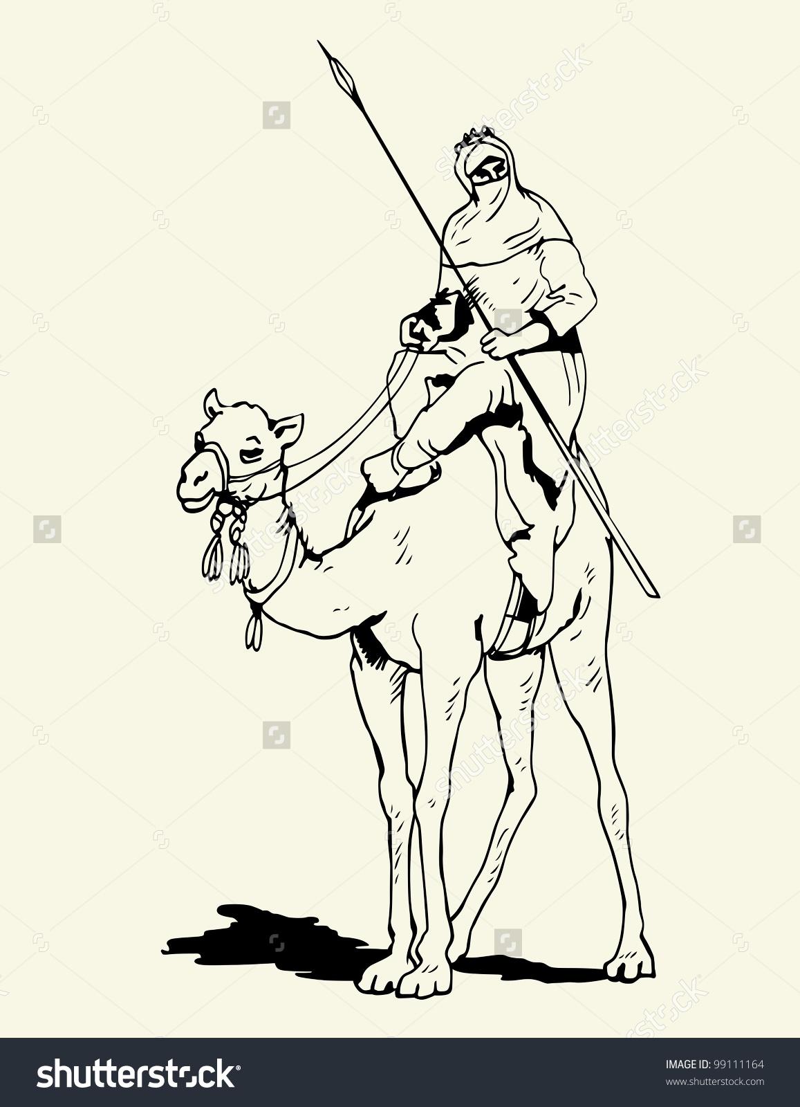 Tuareg Camel Rider Stock Vector 99111164.