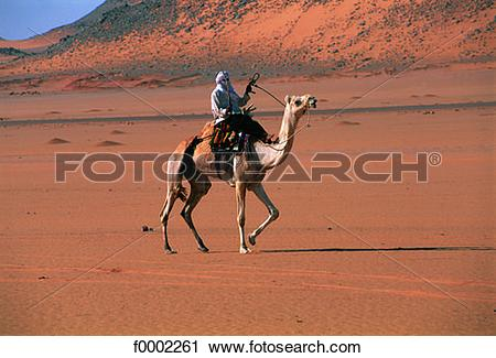 Stock Photography of Algeria, Tuareg in Sahara f0002261.