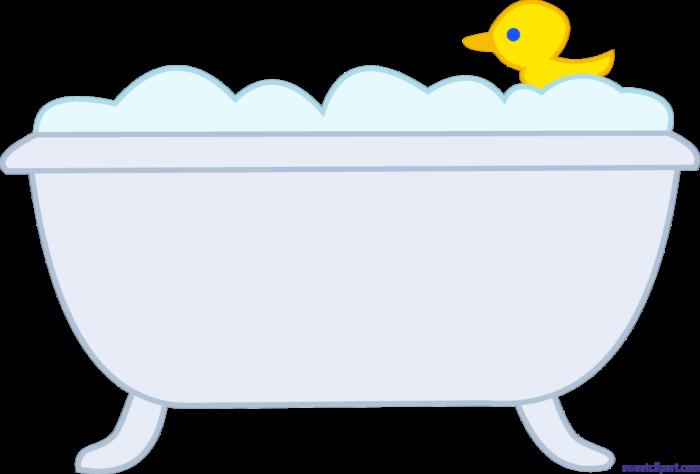 Bath Tub Rubber Ducky Clip Art.