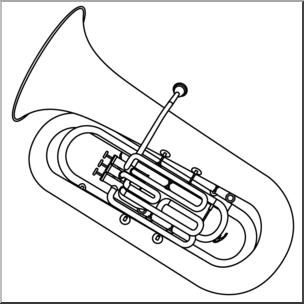 Clip Art: Tuba B&W I abcteach.com.