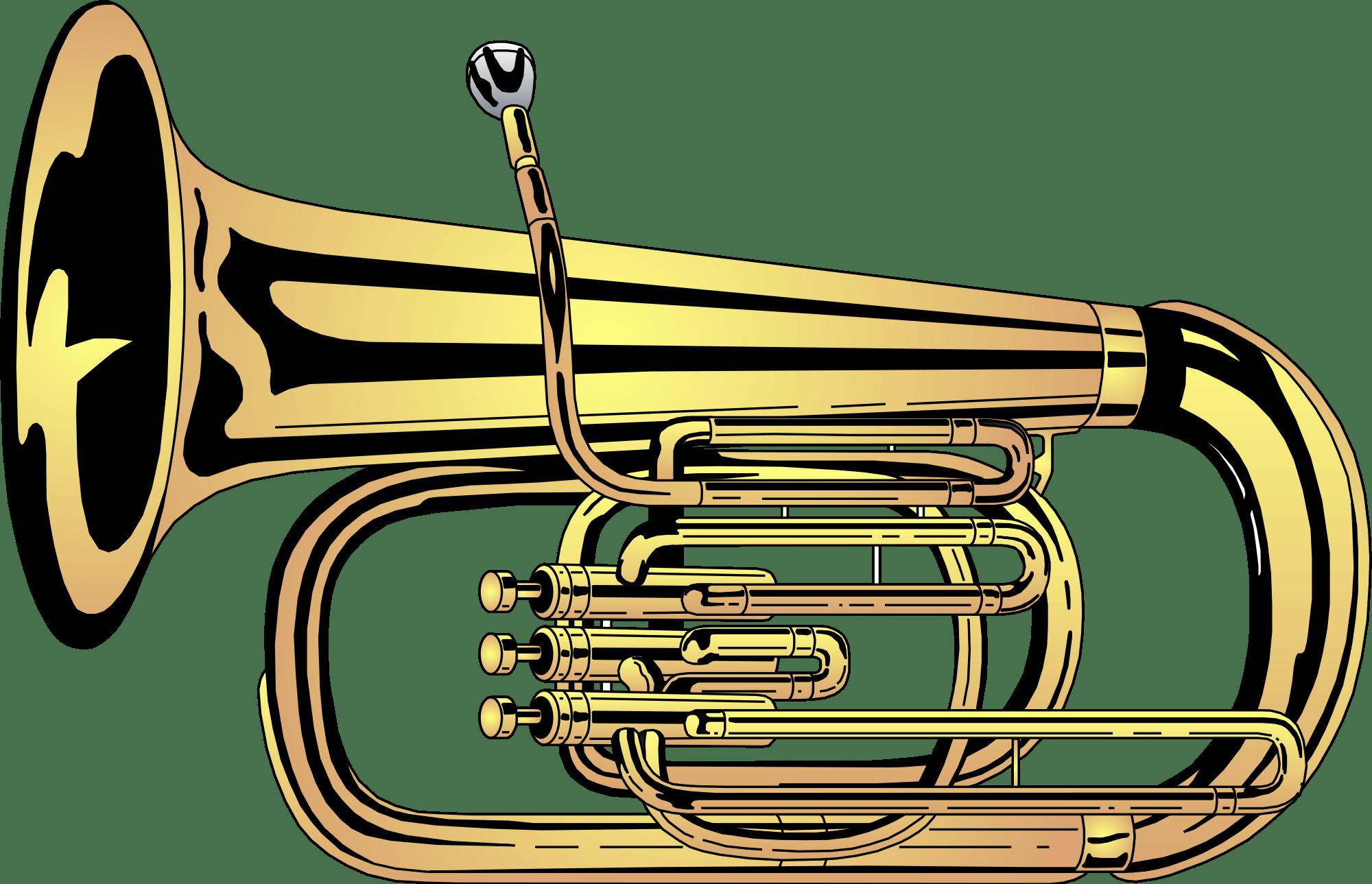 Tuba Clipart transparent PNG.
