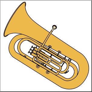 Clip Art: Tuba Color I abcteach.com.