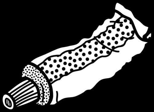 Tube line art vector clip art.