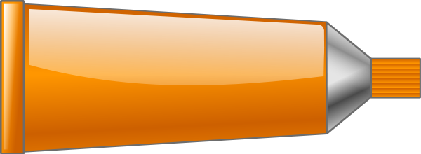 Orange Color Tube Clipart.