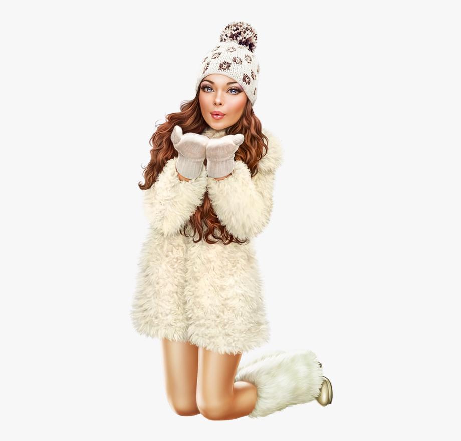 3d Girl, Tube, Fur Coat, Clip Art, Flower Girl Dresses.