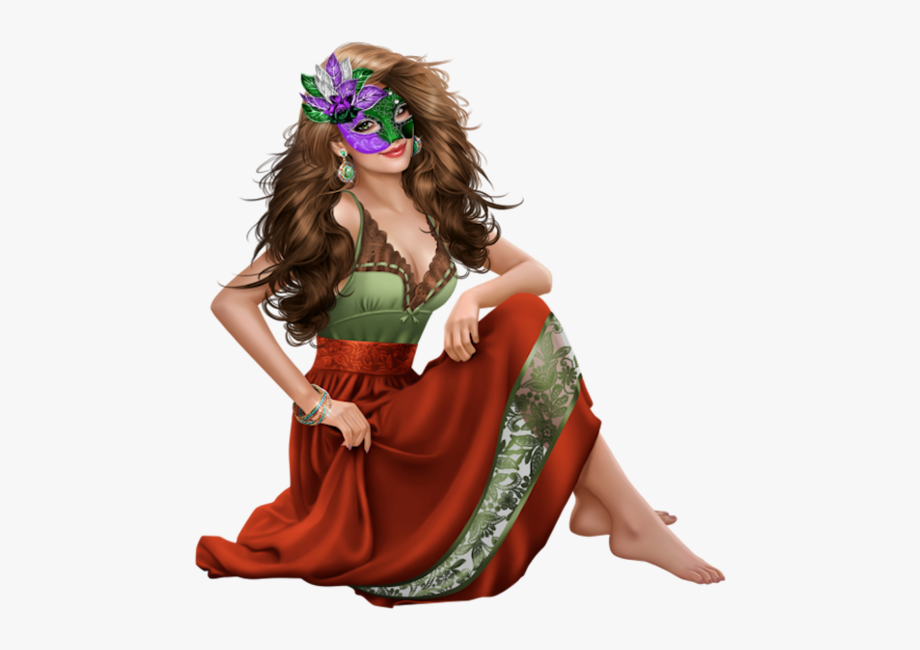 Tube Femme 3d Carnaval , Transparent Cartoon, Free Cliparts.