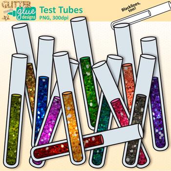 Test Tube Clip Art: Chemistry Lab Equipment {Glitter Meets Glue}.