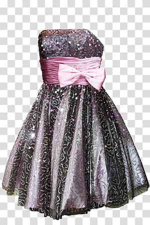 Glitter Dress, women\'s purple tube dress with bow belt.
