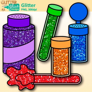 Glitter Clip Art: Shakers, Containers, & Tubes Graphics {Glitter Meets Glue}.