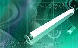 Close Up Fluorescent Light Bulb Stock Illustrations.