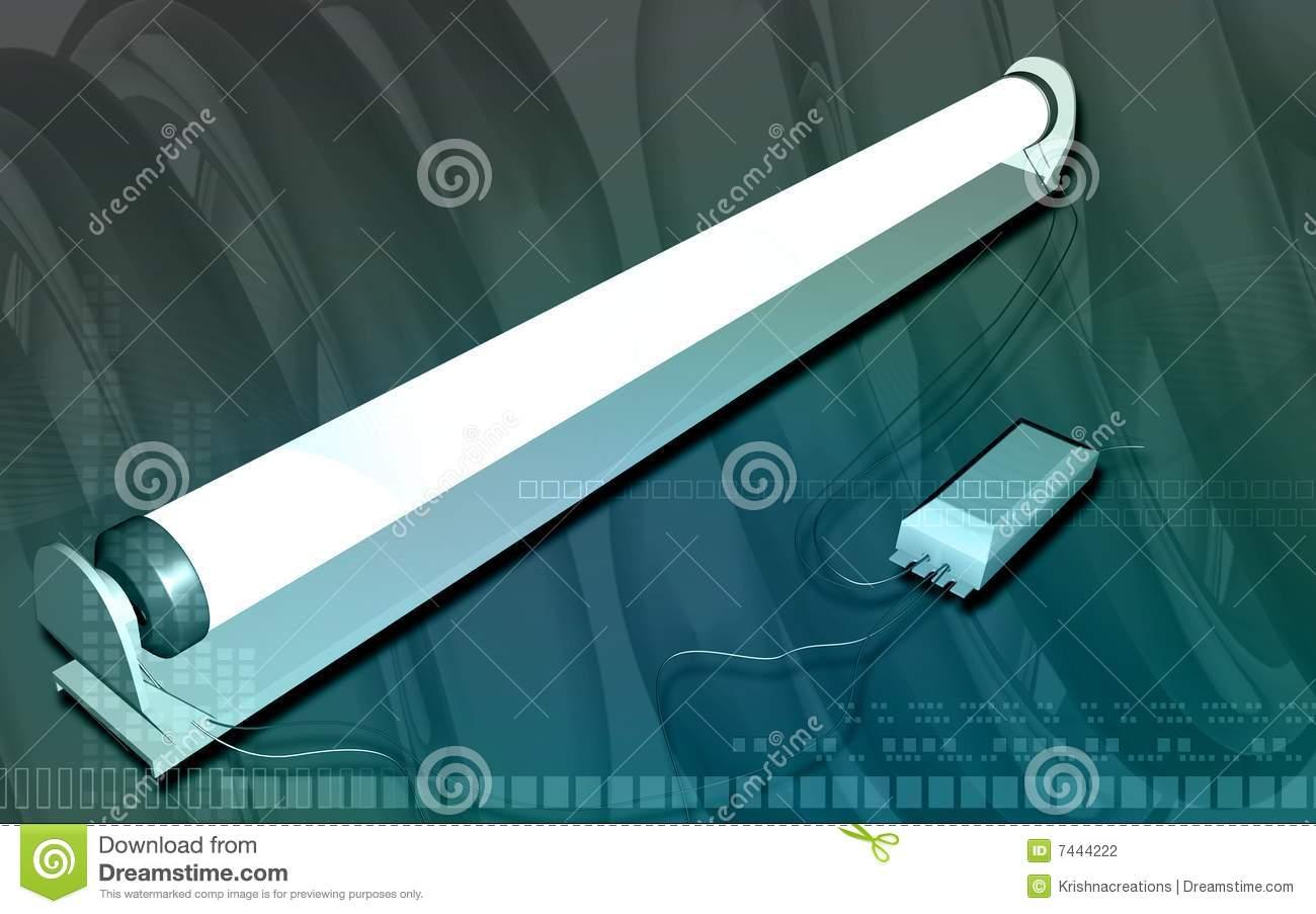 Tube Light Stock Photography.