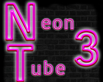 Blue like Neon tube digital letters clipart by GostraiDesigns.