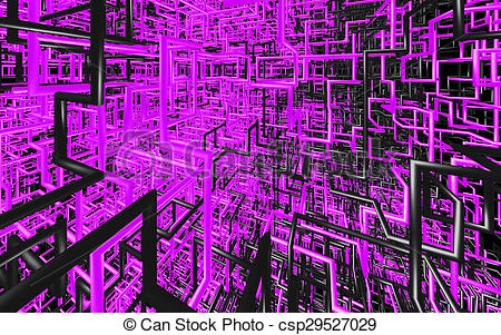 Clip Art of Abstract color tube like on solid background.