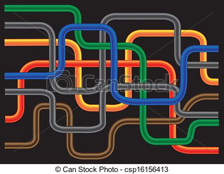 Vector Clip Art of Abstract Tube.
