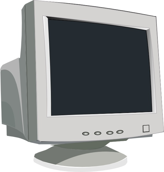 Crt Tube Monitor clip art Free vector in Open office drawing svg.