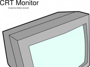 Crt Monitor clip art.