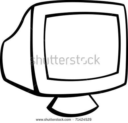 Computer Crt Monitor Stock Illustration 71424529.