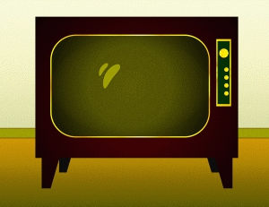 Old Television Clipart#2100399.
