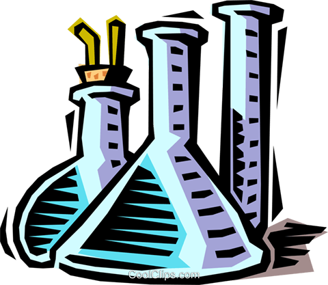 Clipart test tubes and beakers.