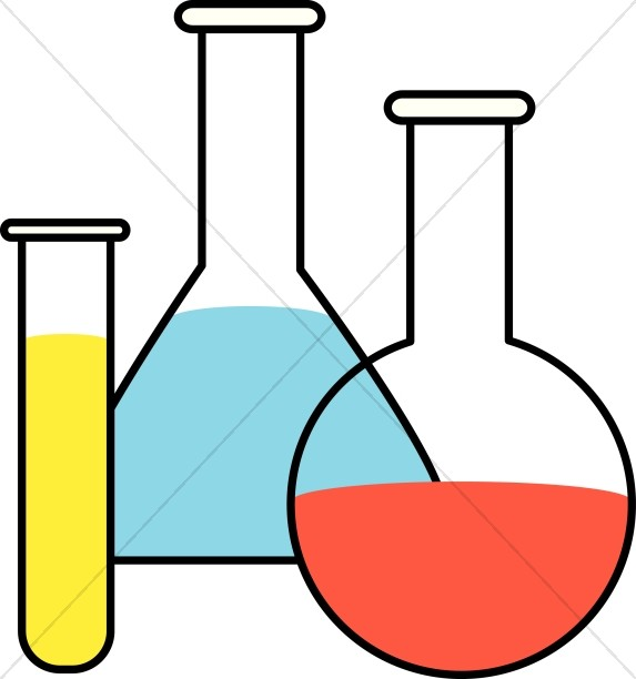 Flasks and Test Tubes Clipart.