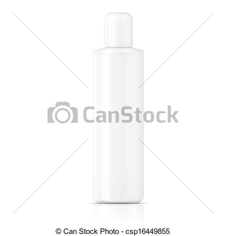 Clipart Vector of White tubular bottle template..
