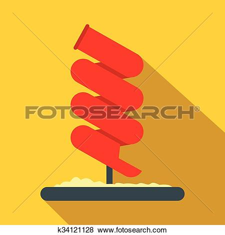 Clip Art of Tubular slide flat icon k34121128.