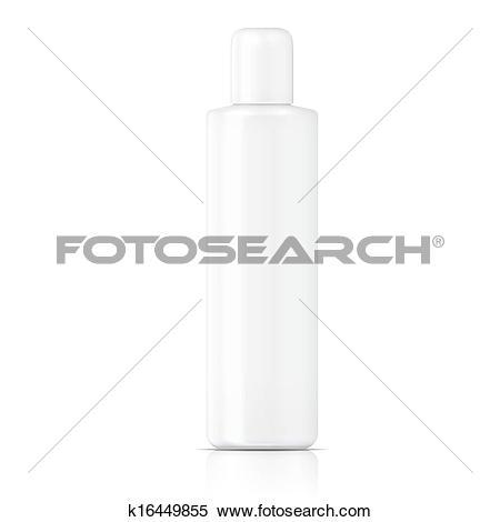 Clipart of White tubular bottle template. k16449855.