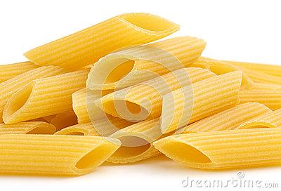 Heap Of Tubular Pasta Stock Photos.