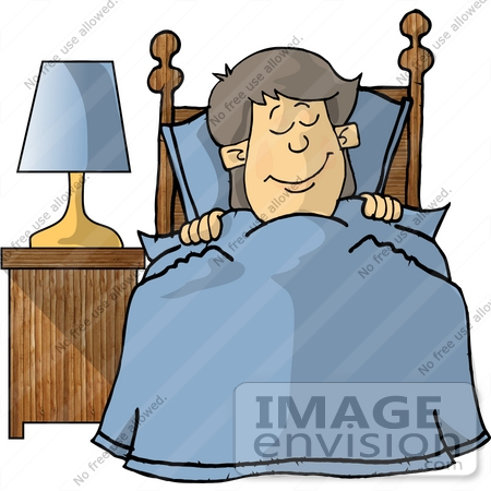 Tucked In Bed Clipart.
