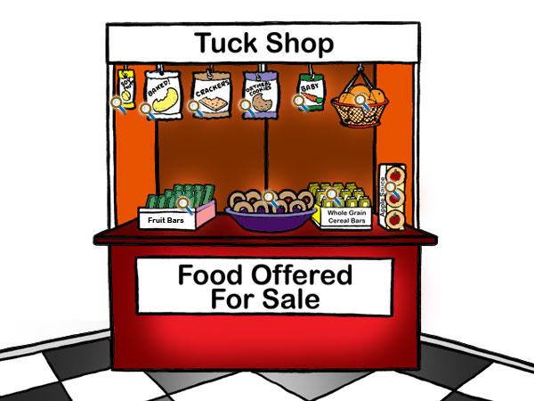 School Tuck Shop Clipart.