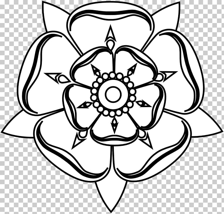 Tudor rose White Rose of York Drawing , Black And White Rose.