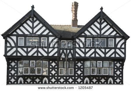 Tudor House Clipart.