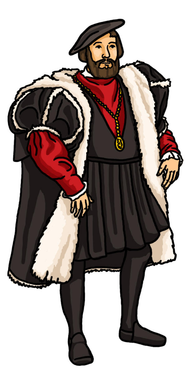 vonbourbon : Clip art tudor man. He can come and make me.