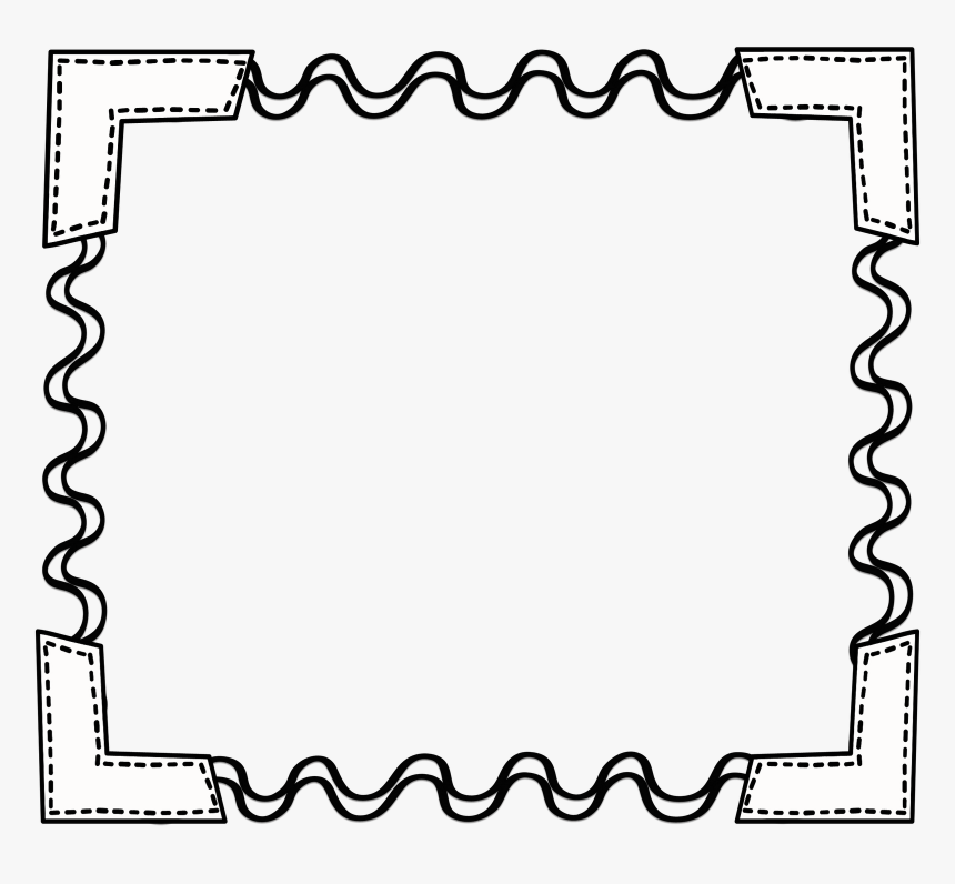 Black White Scribbleframe Png.
