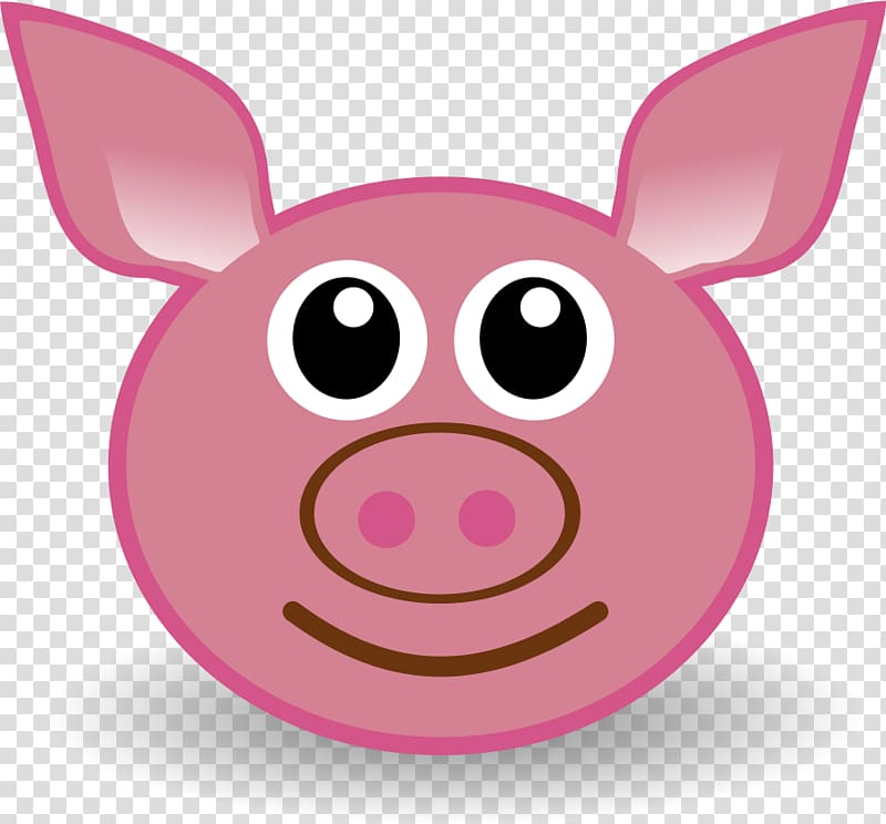 Pig Drawing Face , Tuesday Funny transparent background PNG.