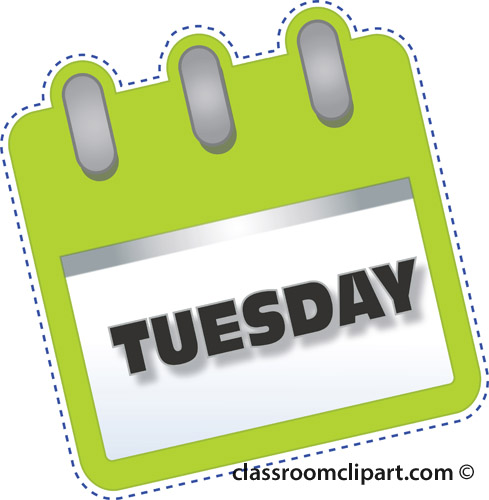 1064 Tuesday free clipart.