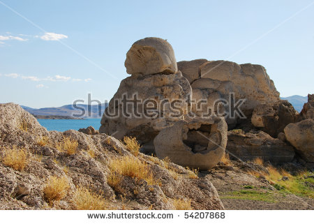 Stone Mother Basket Tufa Rock Formations Stock Photo 54207883.