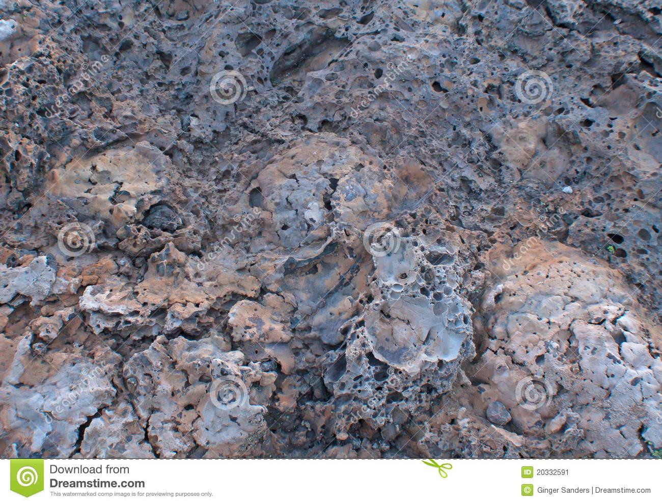 Multicolor Lava Tufa Rock Background Stock Image.