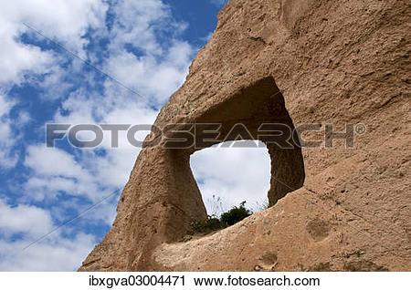"Stock Photography of ""Breaktrough a tufa rock, Rose Valley, Goreme."