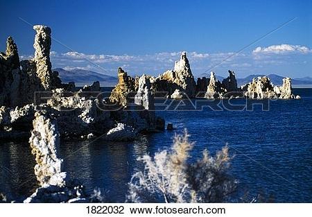 Stock Photo of Tufa Towers at Mono Lake, California, USA 1822032.