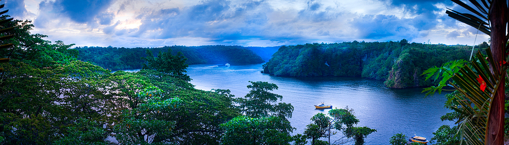 View from Tufi : Papua New Guinea : True North Mark.