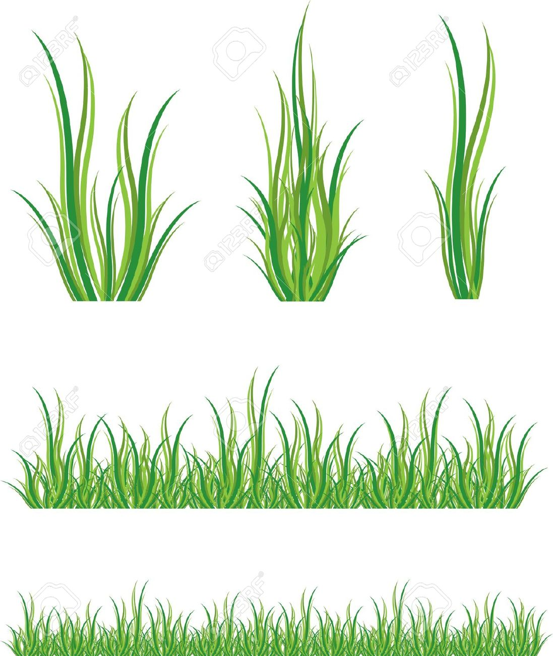 Tufts of grass clipart #13