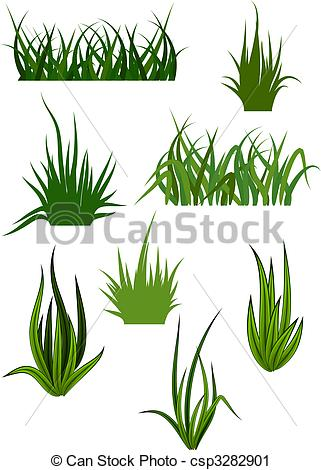 Tufts of Grass Clip Art.