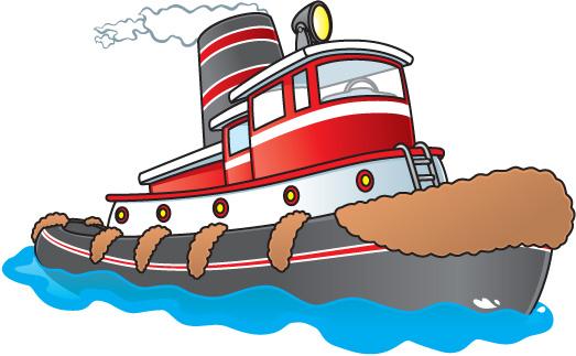 Tugboat Clipart.