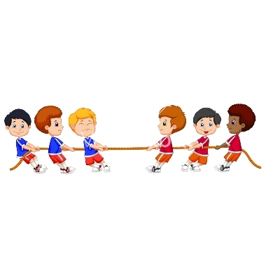 Animated tug of war clipart.